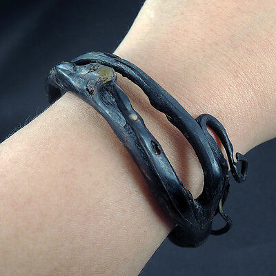 Ethnic AKAR BAHAR BLACK CORAL Bangle Indonesian Amulet Talisman Bracelet