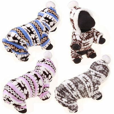 Dog Cat Coat Jacket Pet Sweater Hoodie Clothes Winter Apparel Puppy Costume Warm
