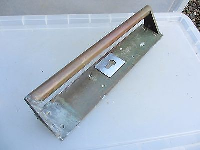 Antique Bronze Door Handle Shop Pull Vintage Architectural Edwardian - Deco 16""