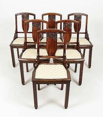 French Art Deco 1920/30 6 Cloud Dining Chairs Dining Room Kitchen Furniture