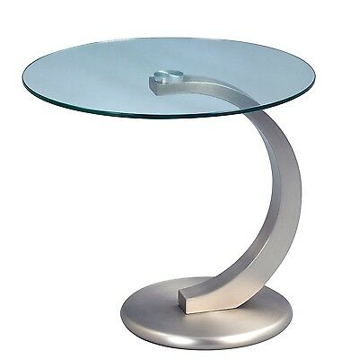 HomeTrends4You 530488 Side Table Height 46 50 cm in diameter Metal Stainless ...