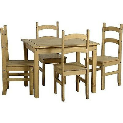 Mercers Furniture Corona Budget Dining Table and 4 Chairs Wood Antique Pine