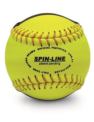 """Spin-Line Striped Practice Softball Leather 12"""" Each M-322-SF-EA"""