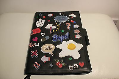 ANYA HINDMARCH All Over Stickers A4 Journal Holder - Black