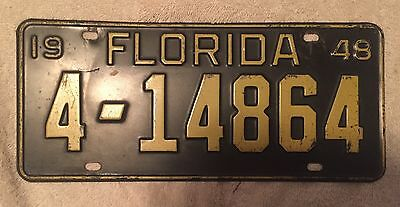 Nice Good Solid 1948 Florida  License Plate  Free Shipping See My Store