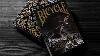 CARTE DA GIOCO BICYCLE UTOPIA BLACK GOLD,poker size