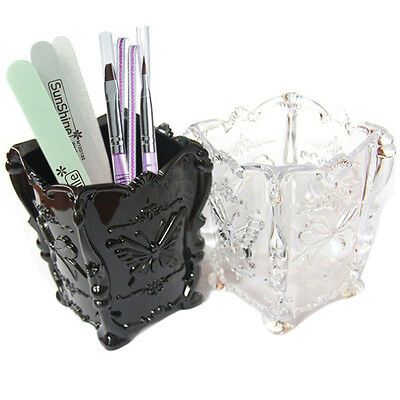 Acrylic Butterfly Makeup Cosmetic Brush Pen Storage Box Case Holder Organizer
