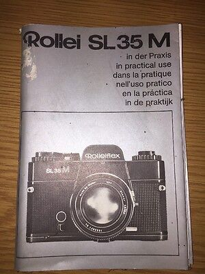Original Rollei SL 35 M Camera In Practical Use Instruction Manual Book Genuine