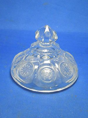 Vintage US Fostoria Crystal Coin Glass Dish Lid Only