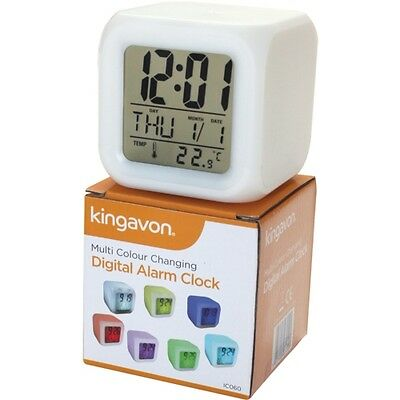 Digital Alarm Clock Illuminated Colour Changing - ideal for camping