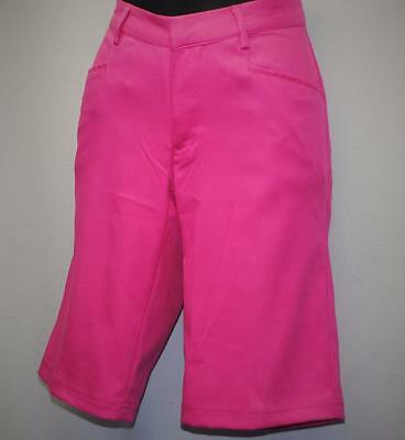 New Ladies Size 2 AUR Stretch bermuda golf shorts WOW pink polyester