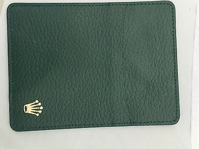 Rolex Green Leather Wallet Card Certificate Holder