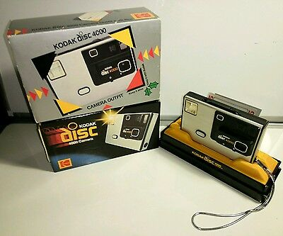 Kodak Disc 4000 camera - boxed with manual & silver card slip box cover
