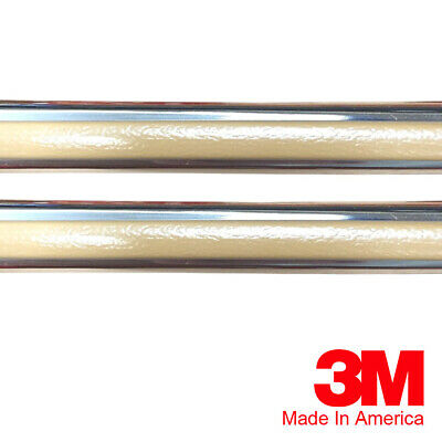 """Vintage Style 7//8/"""" Maroon /& Chrome Side Body Trim Molding For Chevy Caprice"""