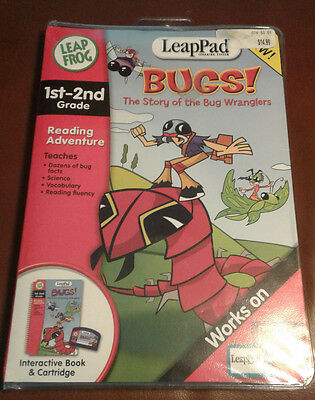LeapPad Bugs! The Story of the Bug Wranglers 1st-2nd Grade Book and Cartridge