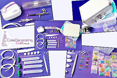 Cake Deco Pen - Dual action Sugar Craft Machine - Air Brush + Deco Pen Kit