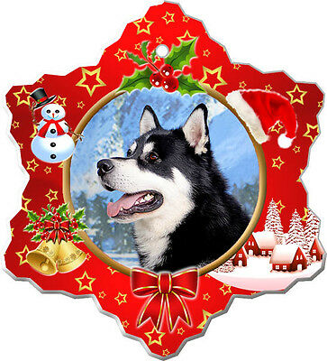 Alaskan Malamute Christmas Holiday Ornament
