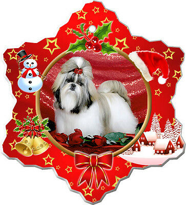 Shih Tzu Christmas Holiday Ornament