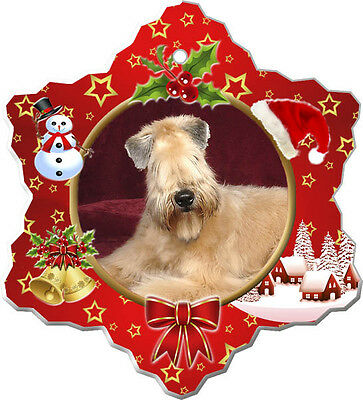 Soft Coated Wheaten Christmas Holiday Ornament