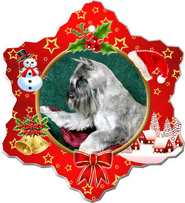 Standard Schnauzer Christmas Holiday Ornament