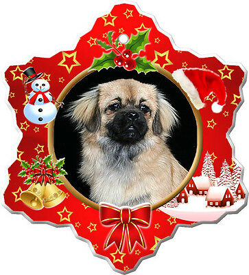 Tibetan Spaniel Christmas Holiday Ornament
