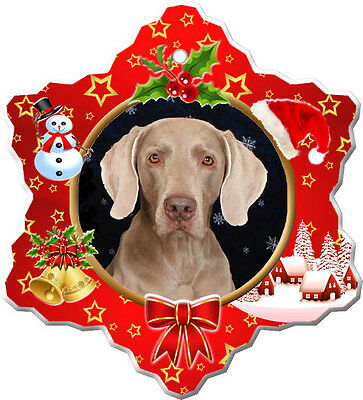 Weimaraner Christmas Holiday Ornament