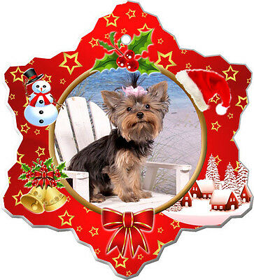 Yorkshire Terrier Christmas Holiday Ornament