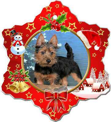 Australian Terrier Christmas Holiday Ornament