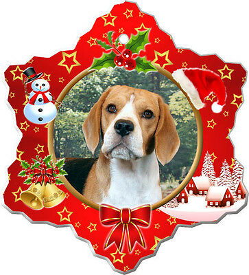 Beagle Christmas Holiday Ornament