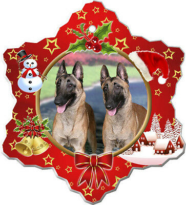 Belgian Malinois Christmas Holiday Ornament