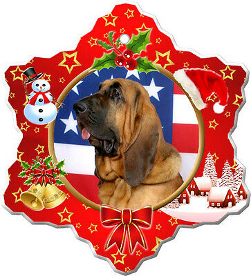 Bloodhound Christmas Holiday Ornament