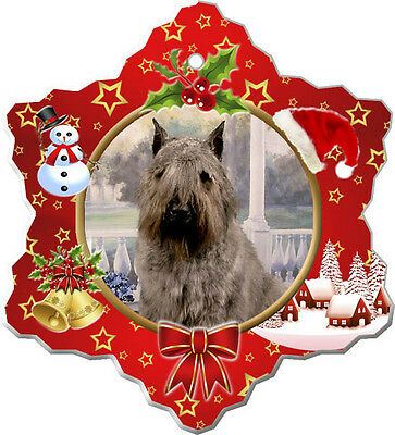 Bouvier des Flanders Christmas Holiday Ornament