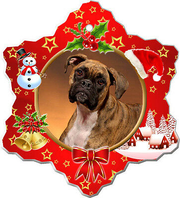 Boxer Christmas Holiday Ornament