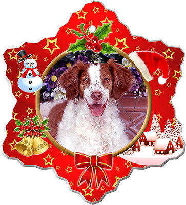 Brittany Spaniel Christmas Holiday Ornament