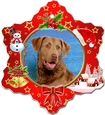 Chesapeake Bay Retriever Christmas Holiday Ornament