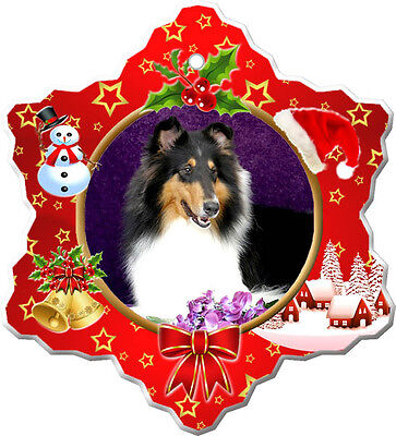 Collie Rough Christmas Holiday Ornament