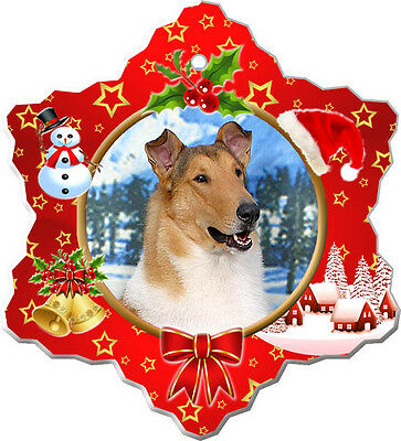 Collie Smooth Christmas Holiday Ornament