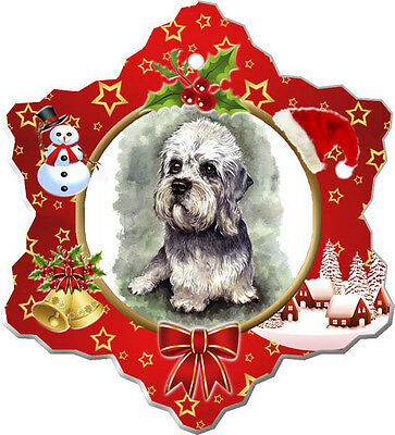 Dandie Dinmont Christmas Holiday Ornament
