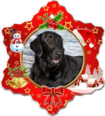 Flat Coated Retriever Christmas Holiday Ornament