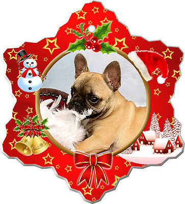 French Bulldog Christmas Holiday Ornament