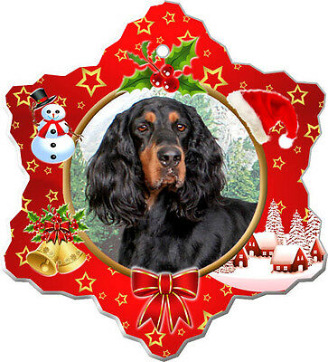 Gordon Setter Christmas Holiday Ornament