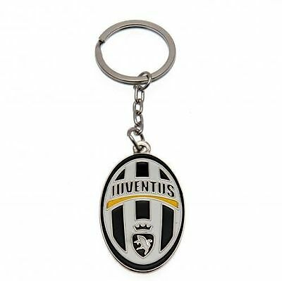 Official Licensed Football Club Juventus Metal Crest Key Ring Keyring Gift New