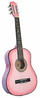 Pinkoz 32 Inch Half Size Kids Acoustic Guitar, Pink