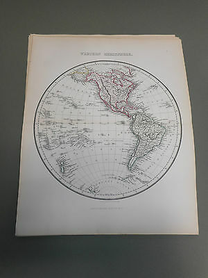 100% Original Western Hemisphere Globe Map By Findlay C1861 Vgc Low Postage