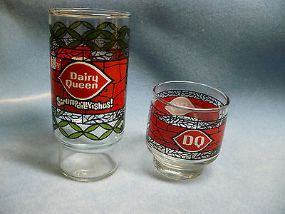 Dairy Queen Coca-Cola Scrumpdillyishus Drinking Glass With Smaller DQ Glass