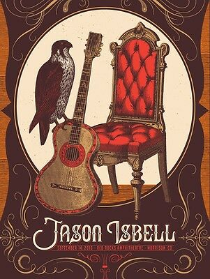 JASON ISBELL Lucero 2016 Red Rocks  Colorado 18x24 Concert Poster & Handbill Lot