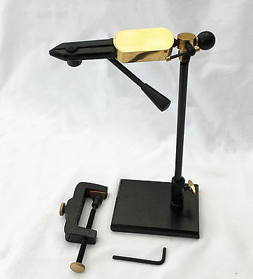 MDI Game Rotatable Lever Action Fly Tying Vice with Pedestal Base & 'G' Clamp