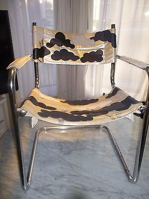 1970's chrome and leather chair with Tree design Terence Conran Habitat Unique