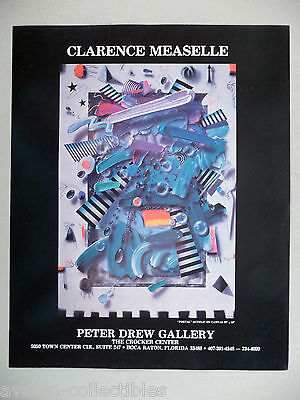 Clarence Measelle Art Gallery Exhibit PRINT AD - 1989 ~~ Portal