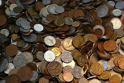 4 OZ MIXED WORLD COINS ☆ BONUS WITH EVERY LOT ☆ 1//4 POUND WORLD COIN LOTS